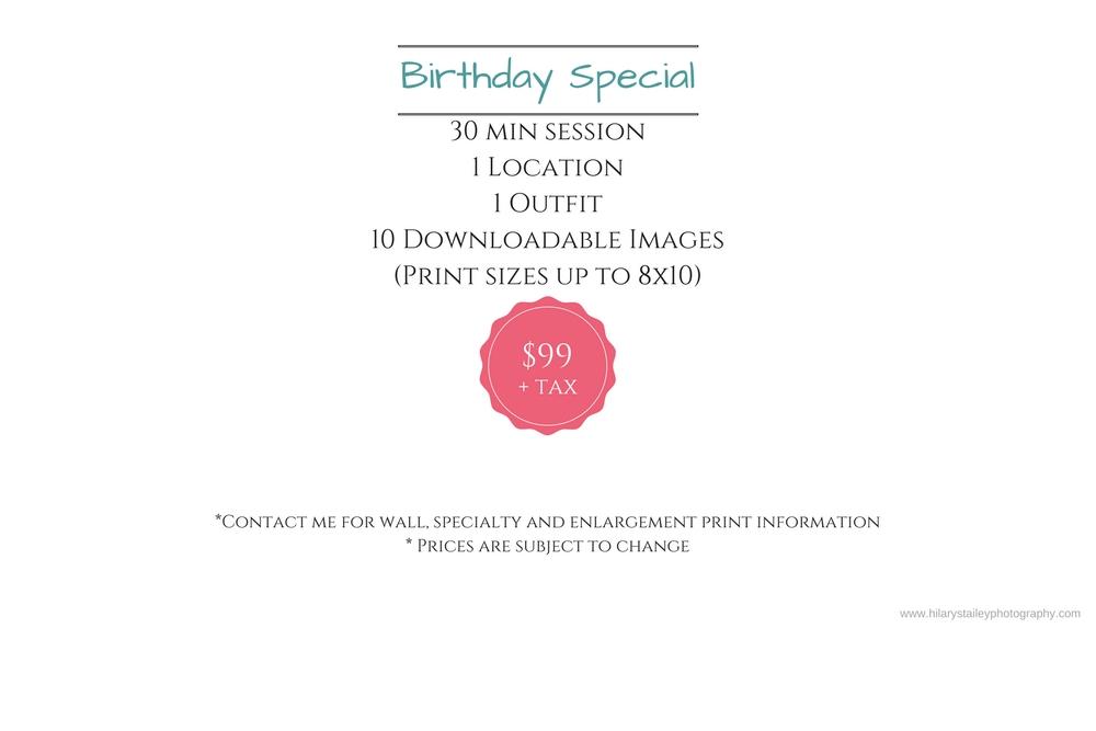 Birthday Girl/Boy Special @ hilarystaileyphotography.com