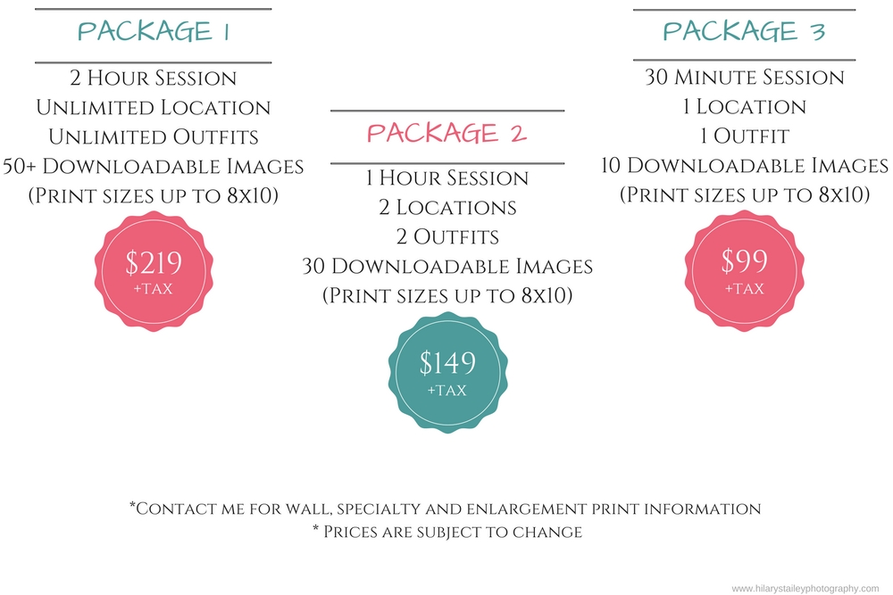 Senior Pricing @ hilarystaileyphotography.com